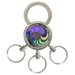 Colorfull_Fractal-215042 3-Ring Key Chain