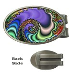 Colorfull_Fractal-215042 Money Clip (Oval)
