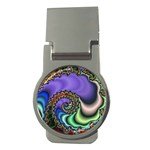 Colorfull_Fractal-215042 Money Clip (Round)