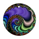 Colorfull_Fractal-215042 Round Ornament (Two Sides)