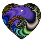 Colorfull_Fractal-215042 Heart Ornament (Two Sides)