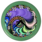 Colorfull_Fractal-215042 Color Wall Clock