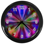 Bounty_Flower-161945 Wall Clock (Black)