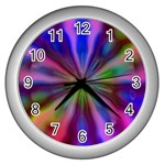 Bounty_Flower-161945 Wall Clock (Silver)