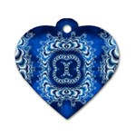 bluerings-185954 Dog Tag Heart (One Side)