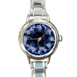 blue%20design%20wave%202-662985 Round Italian Charm Watch