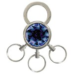 blue%20design%20wave%202-662985 3-Ring Key Chain
