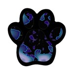 blue%20design%20wave%202-662985 Magnet (Paw Print)
