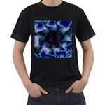 blue%20design%20wave%202-662985 Black T-Shirt (Two Sides)