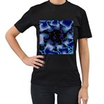blue%20design%20wave%202-662985 Women s Black T-Shirt (Two Sides)