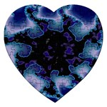 blue%20design%20wave%202-662985 Jigsaw Puzzle (Heart)