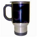 blue%20design%20wave%202-662985 Travel Mug (Silver Gray)