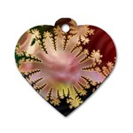 abstract-flowers-984772 Dog Tag Heart (Two Sides)