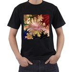 abstract-flowers-984772 Black T-Shirt