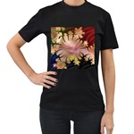 abstract-flowers-984772 Women s Black T-Shirt