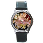 abstract-flowers-984772 Round Metal Watch