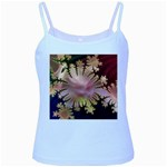 abstract-flowers-984772 Baby Blue Spaghetti Tank