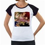 abstract-flowers-984772 Women s Cap Sleeve T