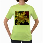 abstract-flowers-984772 Women s Green T-Shirt