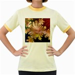 abstract-flowers-984772 Women s Fitted Ringer T-Shirt
