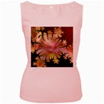 abstract-flowers-984772 Women s Pink Tank Top