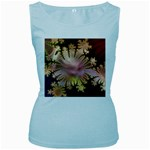 abstract-flowers-984772 Women s Baby Blue Tank Top