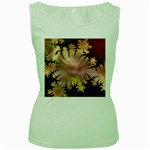 abstract-flowers-984772 Women s Green Tank Top