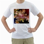 abstract-flowers-984772 White T-Shirt