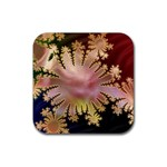 abstract-flowers-984772 Rubber Square Coaster (4 pack)