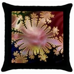 abstract-flowers-984772 Throw Pillow Case (Black)