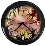 abstract-flowers-984772 Wall Clock (Black)