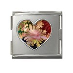 abstract-flowers-984772 Mega Link Heart Italian Charm (18mm)