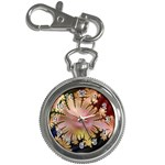 abstract-flowers-984772 Key Chain Watch