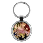 abstract-flowers-984772 Key Chain (Round)