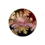 abstract-flowers-984772 Rubber Round Coaster (4 pack)