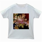abstract-flowers-984772 Kids White T-Shirt