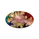abstract-flowers-984772 Sticker (Oval)