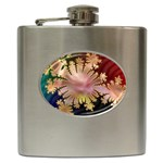 abstract-flowers-984772 Hip Flask (6 oz)