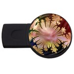 abstract-flowers-984772 USB Flash Drive Round (1 GB)