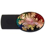 abstract-flowers-984772 USB Flash Drive Oval (1 GB)