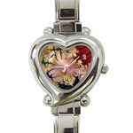 abstract-flowers-984772 Heart Italian Charm Watch