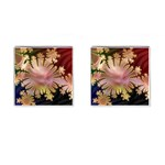 abstract-flowers-984772 Cufflinks (Square)