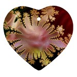abstract-flowers-984772 Heart Ornament (Two Sides)