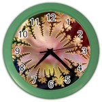 abstract-flowers-984772 Color Wall Clock