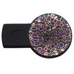 abstract_formula_wallpaper-387800 USB Flash Drive Round (2 GB)