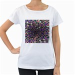 abstract_formula_wallpaper-387800 Maternity White T-Shirt