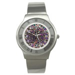 abstract_formula_wallpaper-387800 Stainless Steel Watch