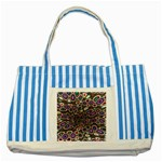 abstract_formula_wallpaper-387800 Striped Blue Tote Bag