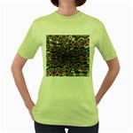 abstract_formula_wallpaper-387800 Women s Green T-Shirt