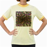 abstract_formula_wallpaper-387800 Women s Fitted Ringer T-Shirt